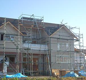 M建設様:搬入困難な場所での建設